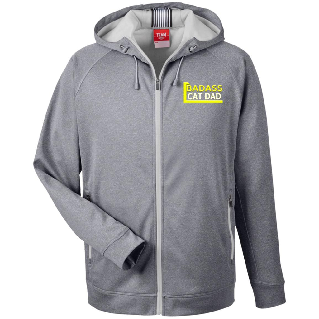 Athletic Grey Cat Lover Hooded Jacket - Badass Cat Dad