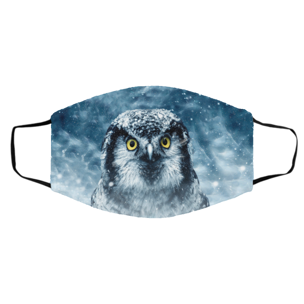 owl print face mask Large