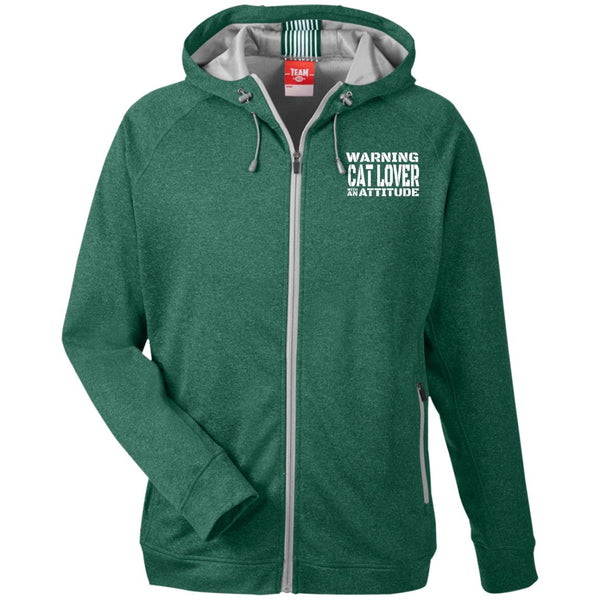 Green Warning Cat Lover With An Attitude Hooded Jacket