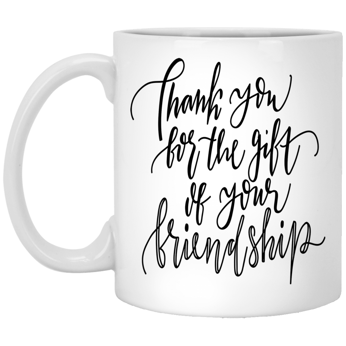 Christmas Mug Friendship Gift  Best Friends Gift 11 oz Ceramic Cup Thank You For The Gift Of Your Friendship