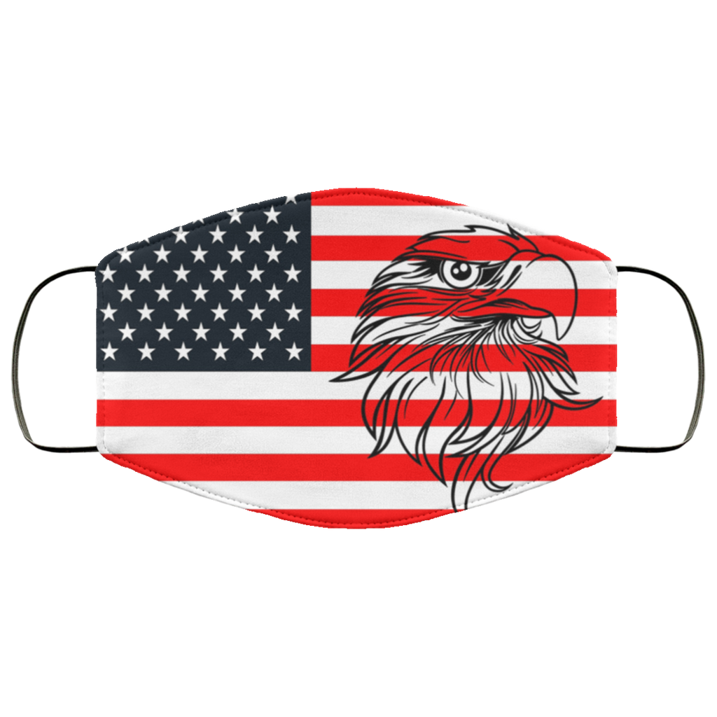Patriotic Flag And Eagle Face Mask