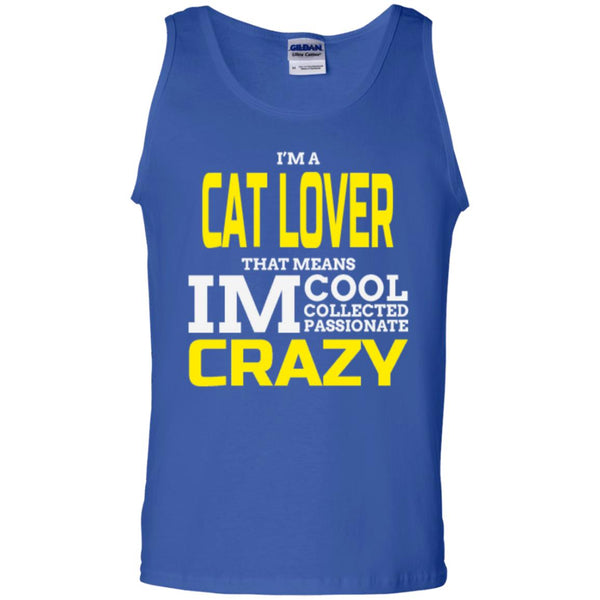 royal blue Cat Gift Tank Top