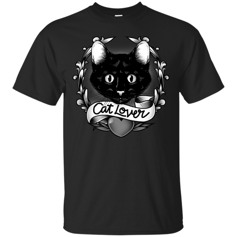 Black Cat Lovers Short Sleeve Tshirt