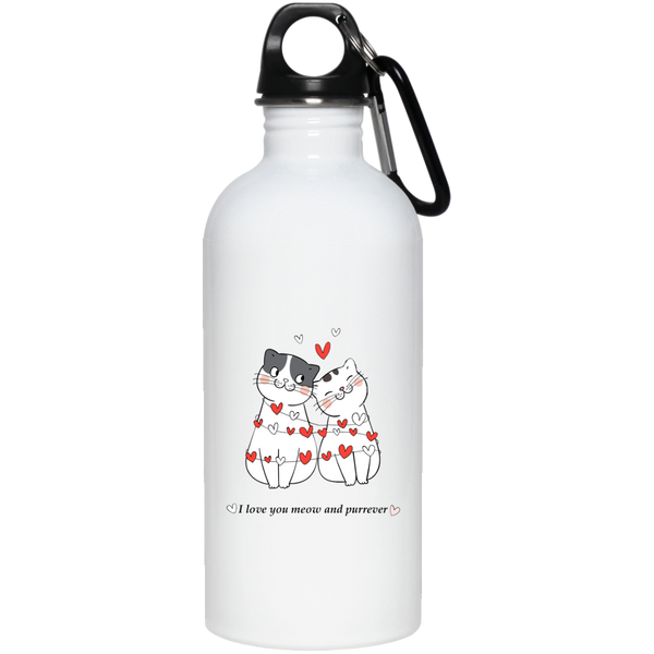 20 oz white Cat Lovers Valentines Gift I Love You Meow And Purrever