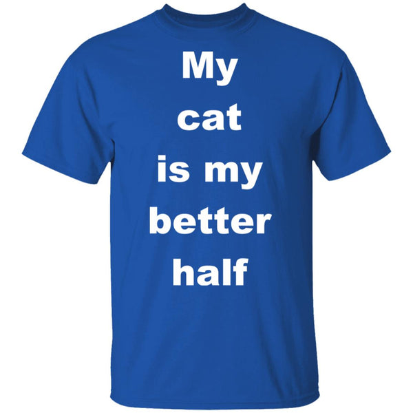 Royal Blue Cat Tee - My Cat Is My Better Half