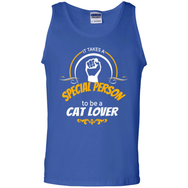 Royal Blue Tank Top It Takes A Special Person To Be A Cat Lover
