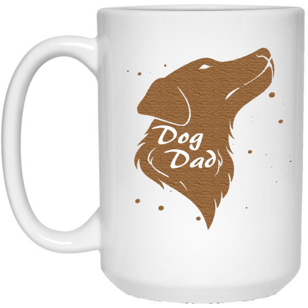15 oz white Dog dad mug