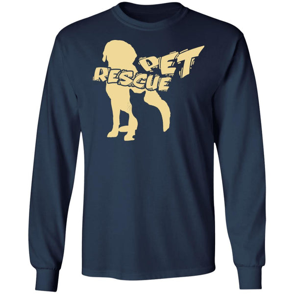 Navy Pet Rescue Long Sleeve T-Shirt Gift For Animal Rescuers