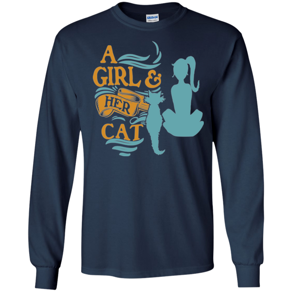 Custom Tee Girl And Her Cat