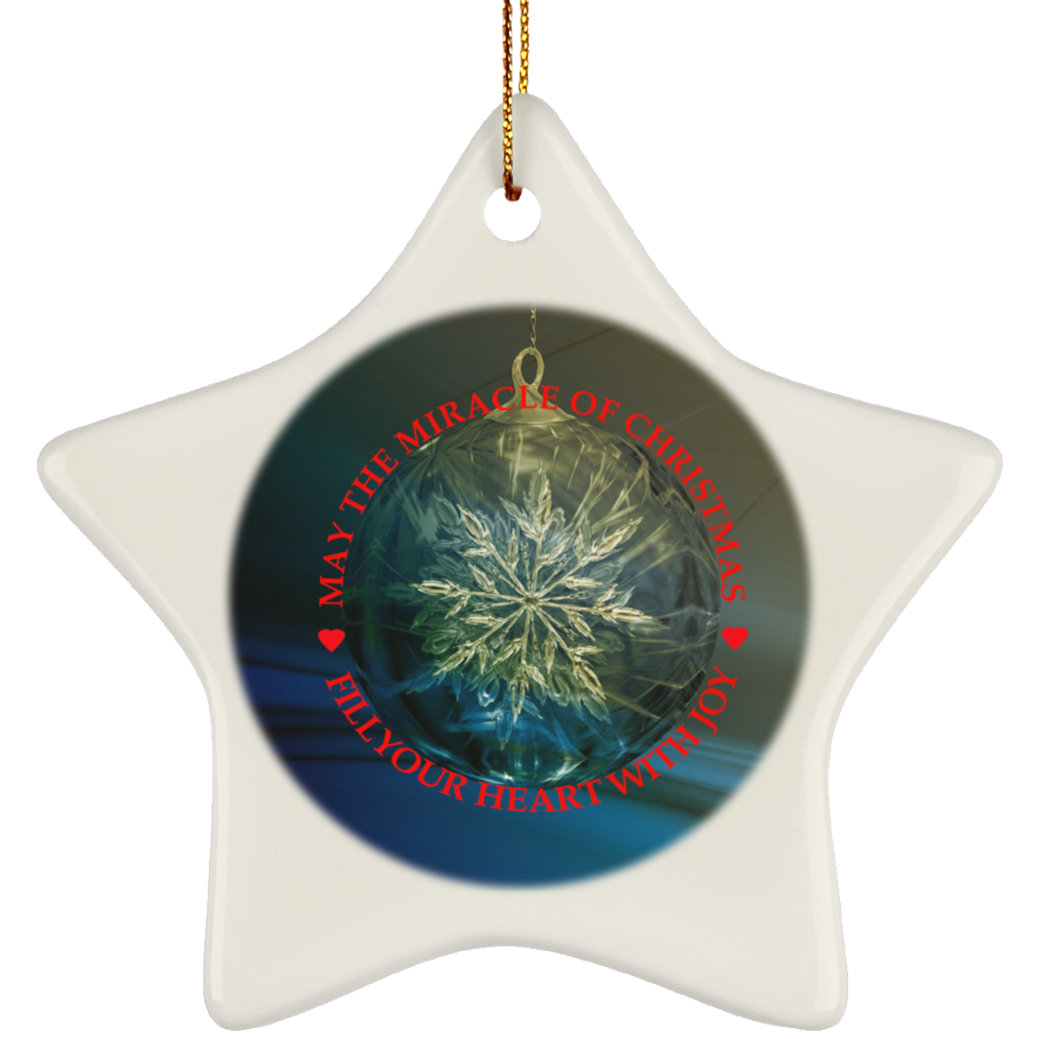 Ceramic Christmas Ornaments   May The Miracle Of Christmas   Ceramic Christmas Tree Ornament
