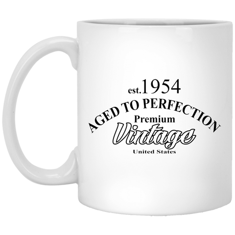 Birthday Gift Aged To Perfection Premium Vintage 11 oz Ceramic Coffee Mug Gift For Mom, Dad, Grandpa Or Grandma