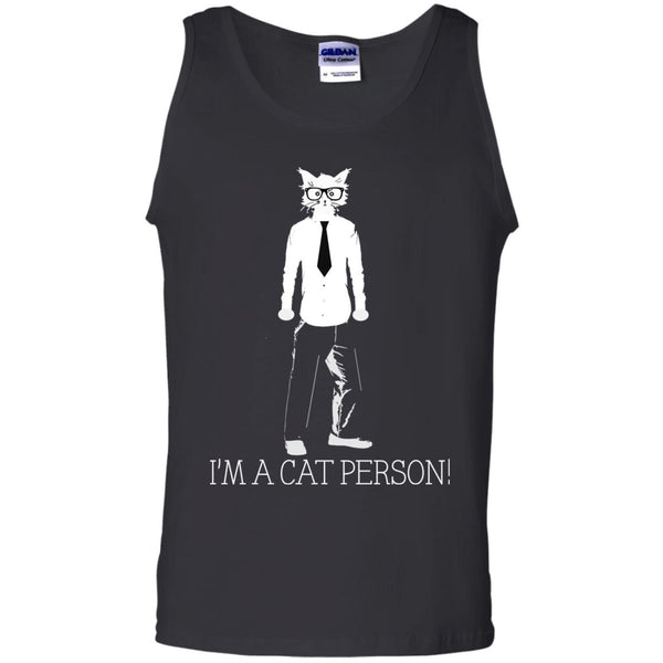 Black Tank Top Gift For Cat Lovers I'm A Cat Person