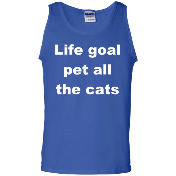 Royal Blue Cat Tank top - Life Goal Pet All The Cats