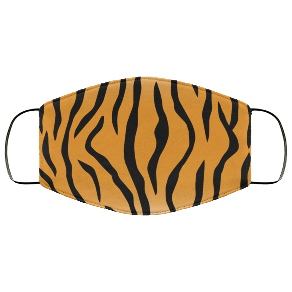 tiger skin print face mask