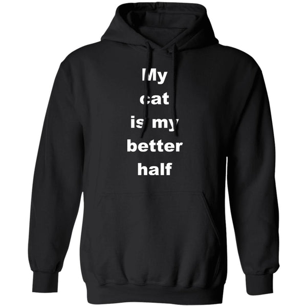 Black Cat Pullover Hoodie - My Cat Is My Better Half