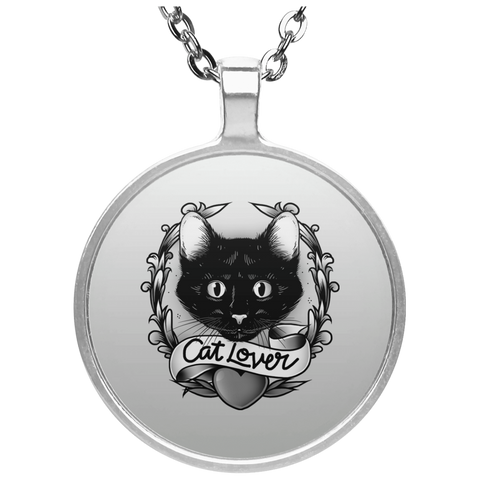 Circle Cat Lover Necklace