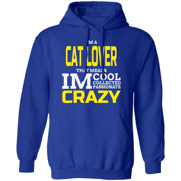 Royal Blue Cat Gift Pullover Hoodie