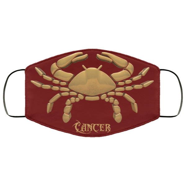 cancer face mask maroon