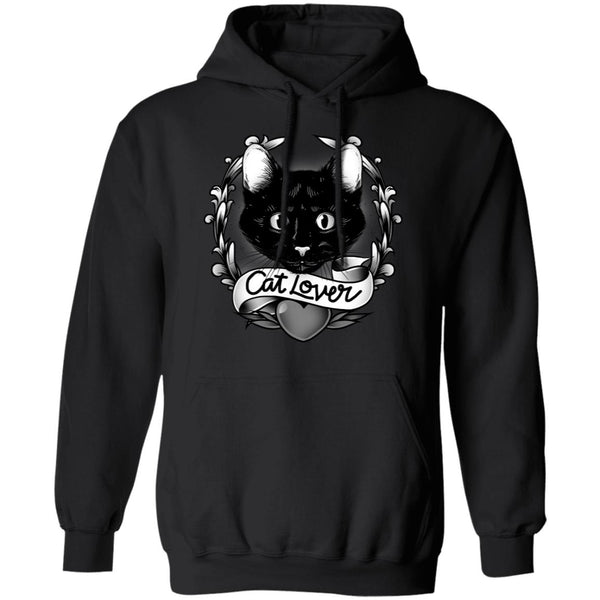 Black Cat Lover Cotton Pullover Hoodie