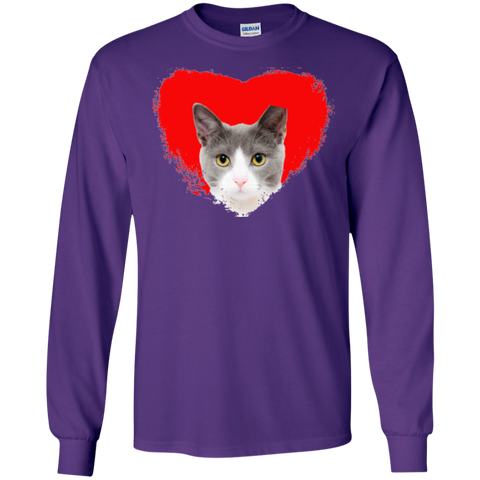 Love Cats Gildan LS Unisex Cotton T-Shirt