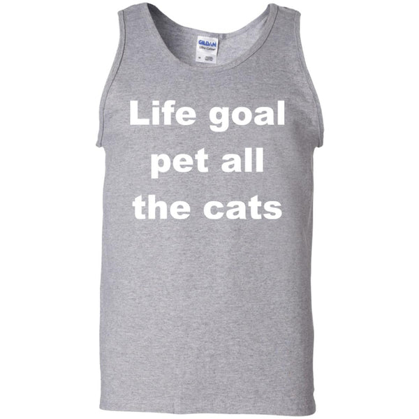 Sport Grey Cat Tank top - Life Goal Pet All The Cats
