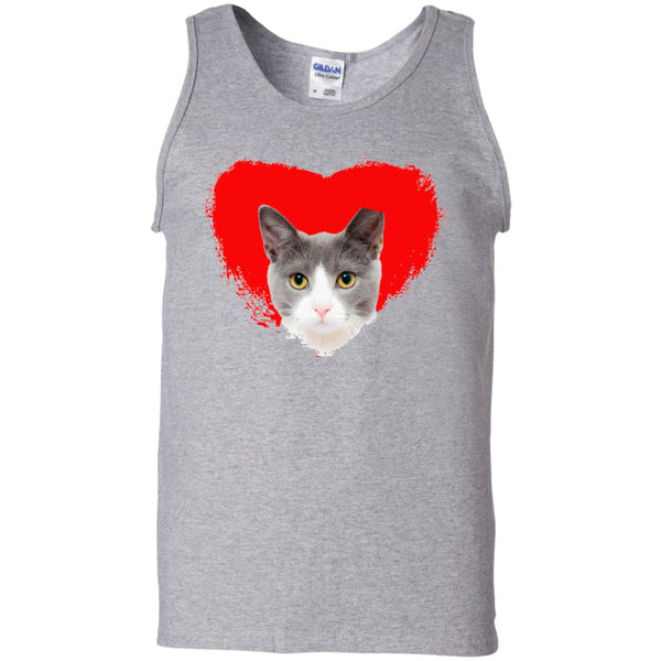 Sport Grey Cat Tank Top I Love Cats