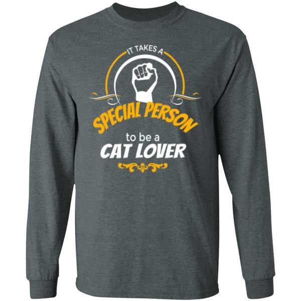 dark heather Long Sleeve T-Shirt It Takes A Special Person To Be A Cat Lover