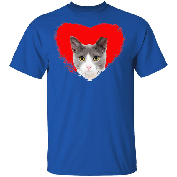 Royal Blue Cat T-Shirt I Love Cats