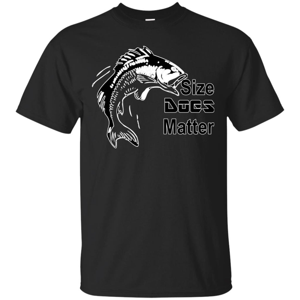 Funny Fishing T Shirt Size Does Matter Makes A Wonderful Gift For Any Fisherman