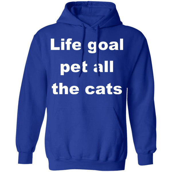 Royal Blue Cat Pullover Hoodie - Life Goal Pet All The Cats