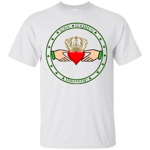 St Patricks Day Tee, Claddagh Ring, Love, Loyalty, Friendship, Ireland Tshirt, Irish T-shirt, Unisex Clothing