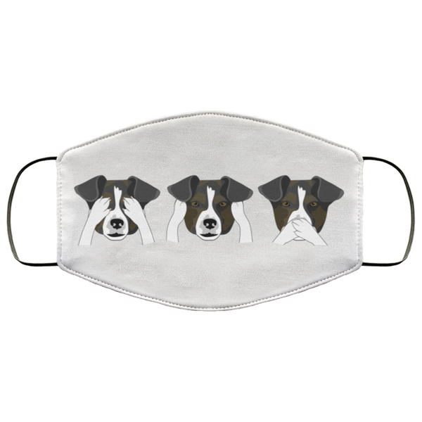 Funny Dog Print Face Mask white