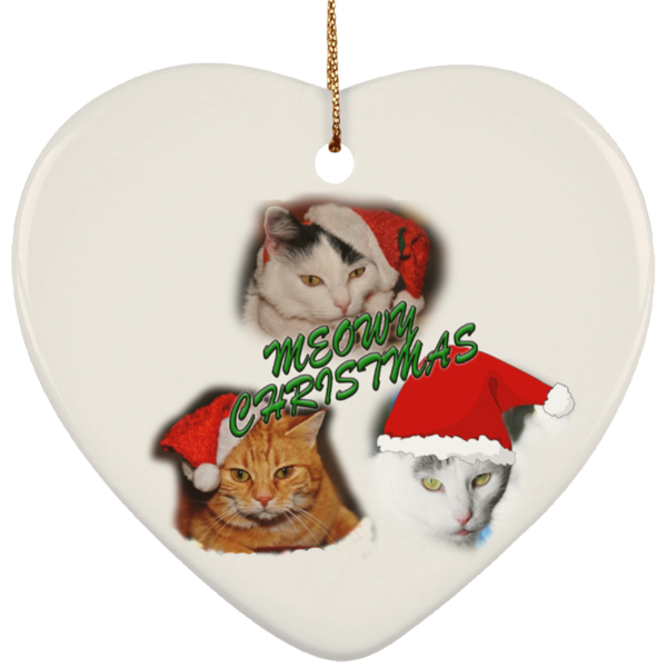 cat themed christmas ornaments - Cat Christmas Decorations