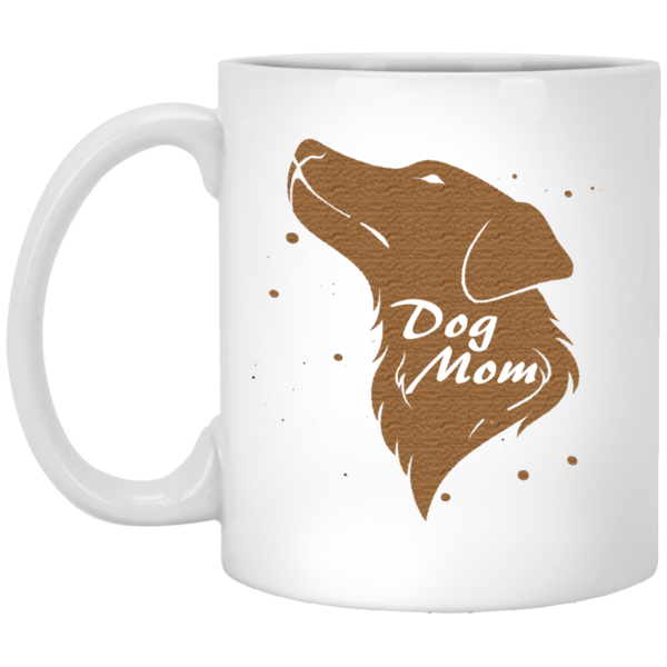 11 oz white Dog mom mug
