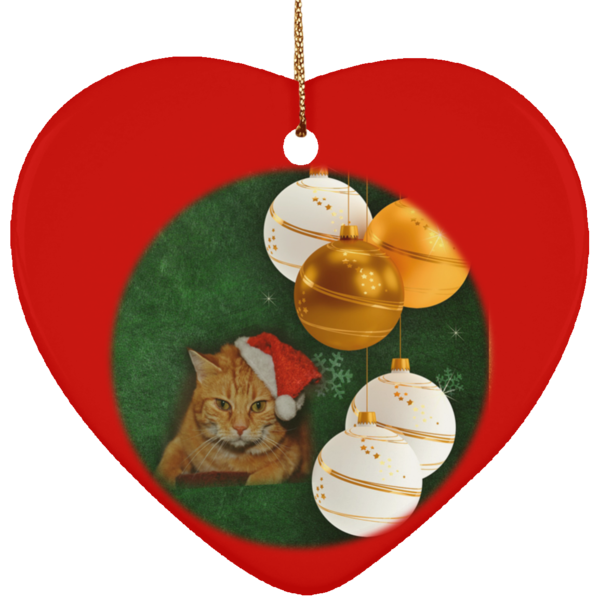 cat decorative christmas ornament