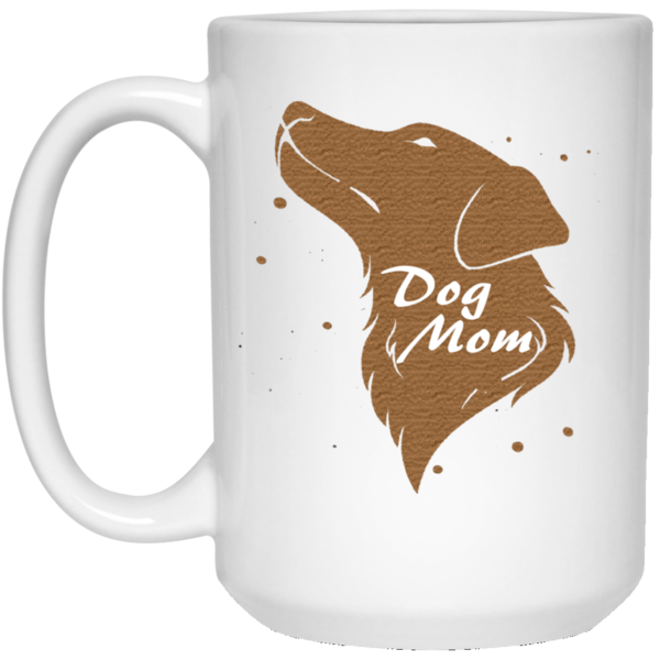 15 oz white Dog mom mug