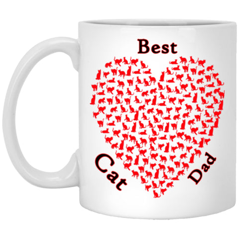 best cat dad white mug 11 oz