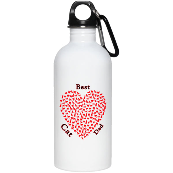 best cat dad white water bottle 20 oz