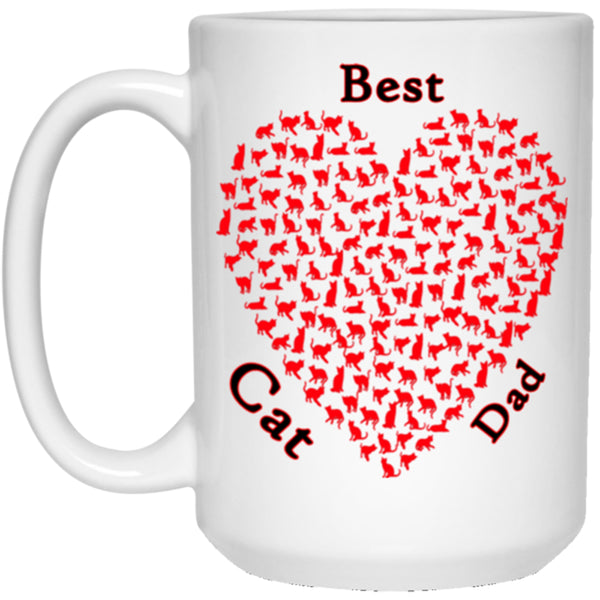 best cat dad white mug 15 oz