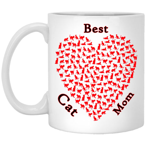 best cat mom white mug 11 oz