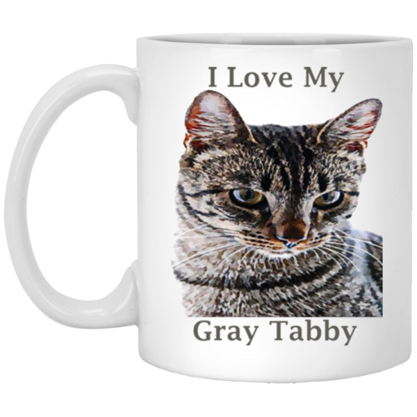 grey tabby cat mug