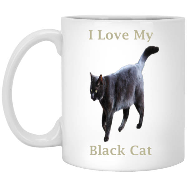 11 oz White Coffee Mug Gift For Cat Lovers