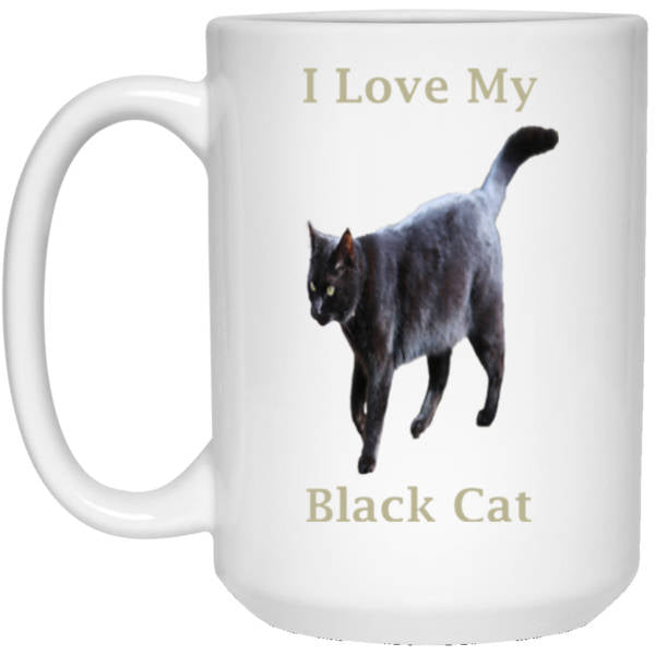15 oz White Coffee Mug Gift For Cat Lovers