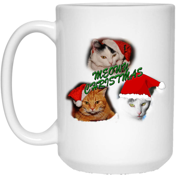 Cat Christmas Mug - Meowy Christmas - Christmas Cat Coffee Mug