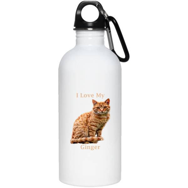 20 oz White Ginger Water Bottle - I Love My Ginger