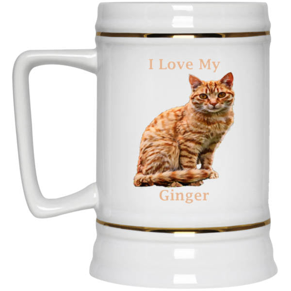 22 oz White Ginger Beer Mug - I Love My Ginger