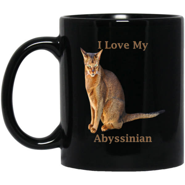 Abyssinian Cat Coffee Mug 11 Oz White Or Black Cat Lovers Coffee Cup