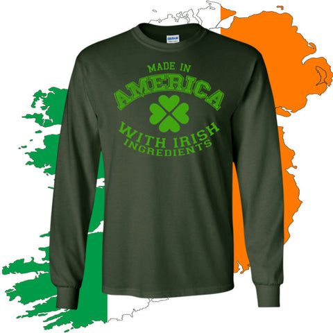 Irish American Gildan LS Unisex Cotton T-Shirt