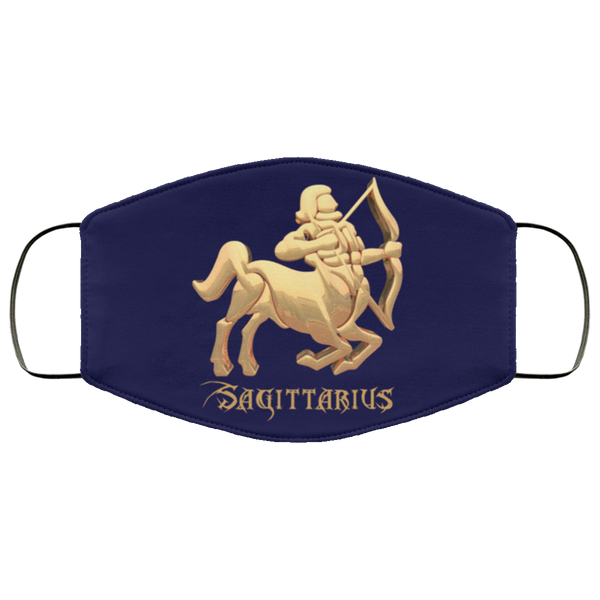 Sagittarius Face Mask navy blue