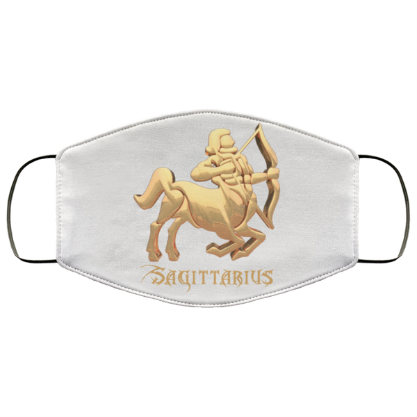 Sagittarius Face Mask white